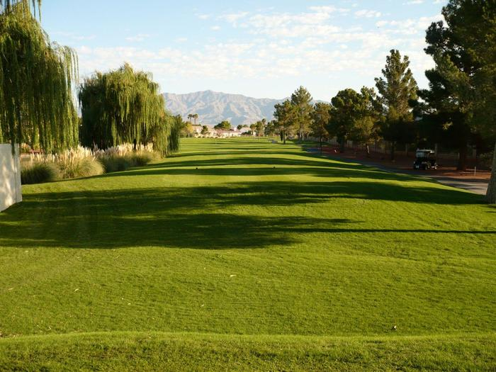 View of the fairway at Los Prados Golf Course